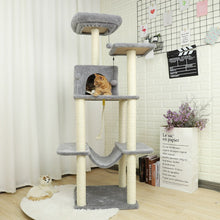 Load image into Gallery viewer, Cat Tree Condo Sisal Scratching Posts for Cat or Kitten