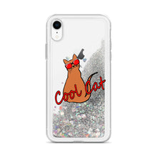 Load image into Gallery viewer, Liquid Glitter Cool Cat Phone Case