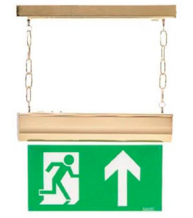 Emergency Lighting - Brass / Copper Effect Range