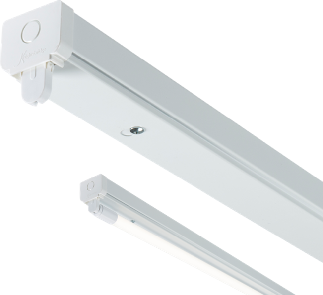 Qty 4 - 230V T8 Single LED-Ready Batten Fitting 1525mm (5ft) (without a ballast or driver)