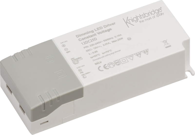 IP20 12V 25W DC Dimmable LED Driver - Constant Voltage