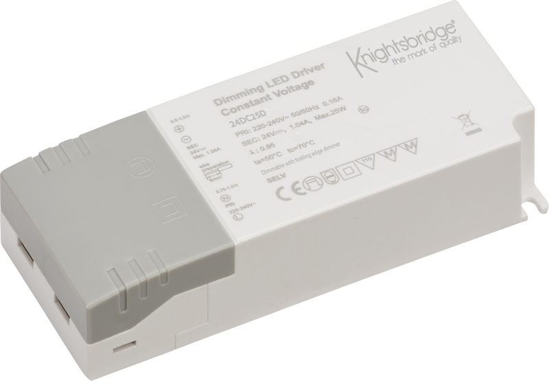 IP20 24V 25W DC Dimmable LED Driver - Constant Voltage