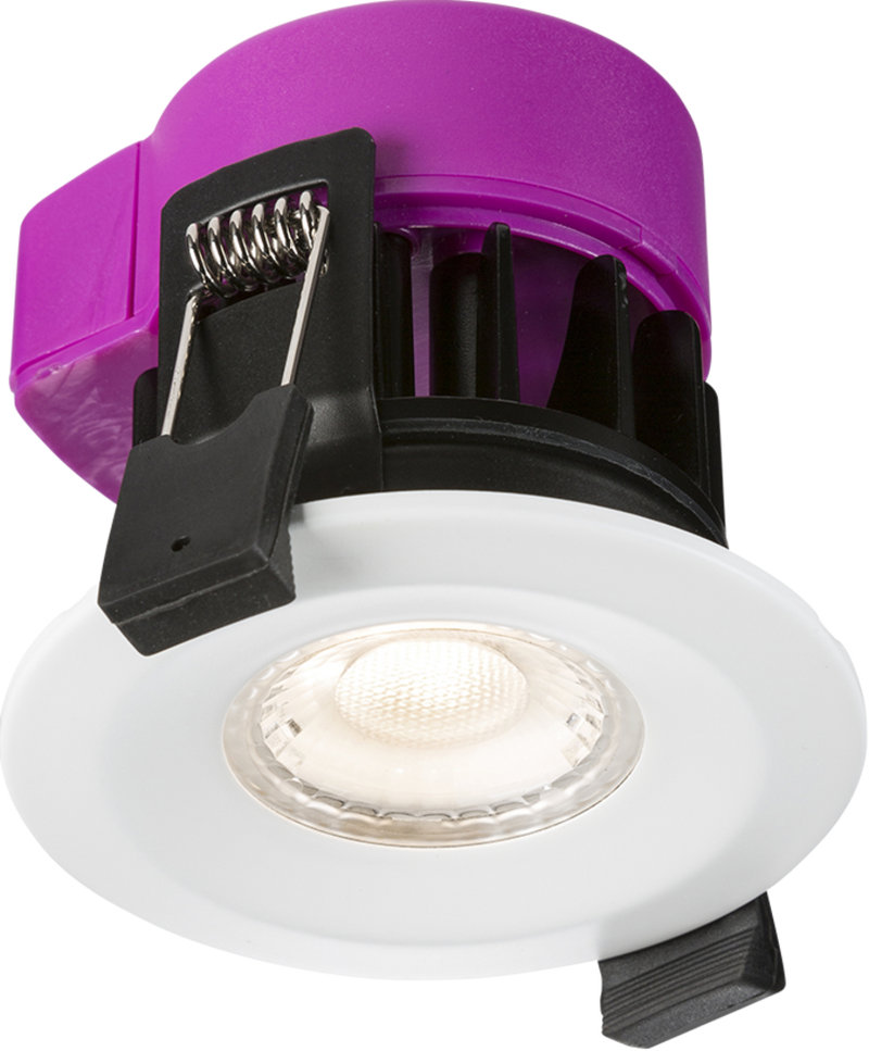230V IP65 6W Recessed Fire-rated LED Downlight - Dim to Warm
