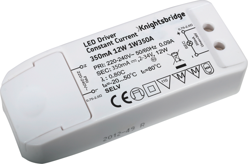 IP20 350mA 12W LED Driver - Constant Current