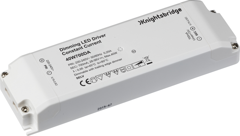 IP20 700mA 40W LED Dimmable Driver - Constant Current