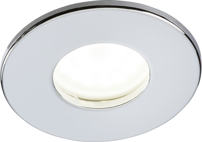 230V IP65 Fixed GU10 Fire-Rated Downlight- Chrome