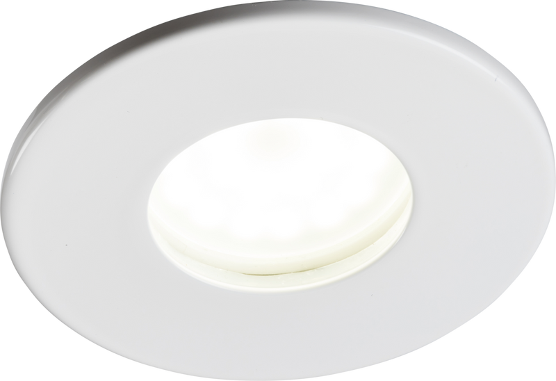 230V IP65 Fixed GU10 Fire-Rated Downlight- White