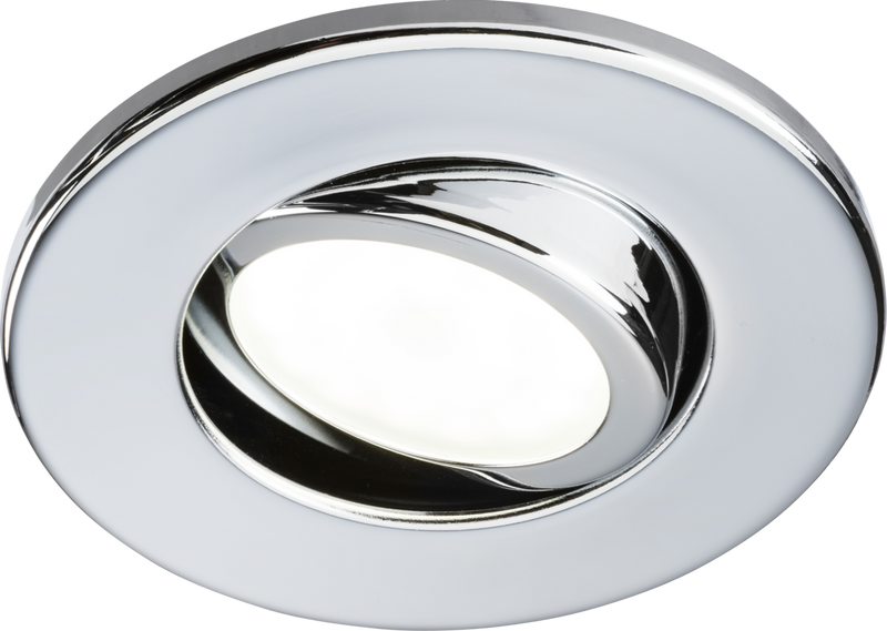 230V IP20 Tilt GU10 Fire-Rated Downlight Chrome