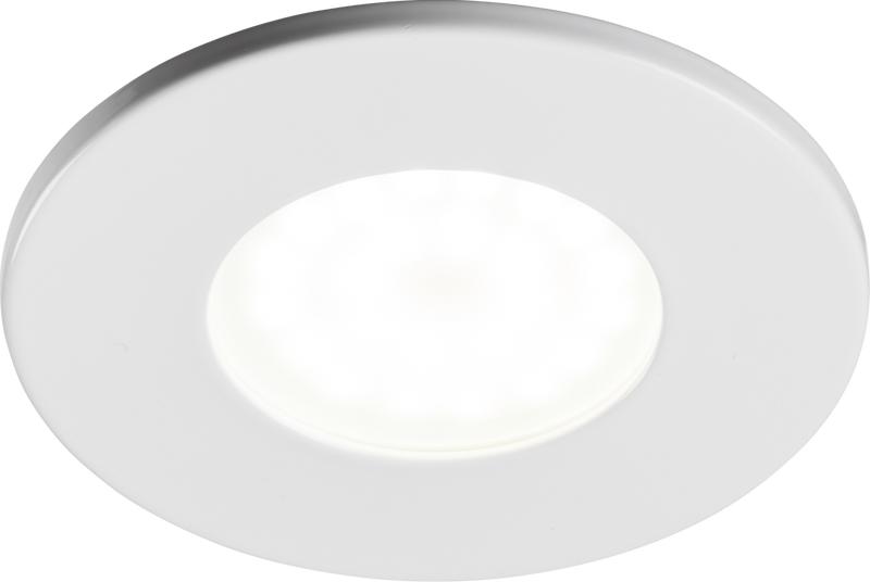 230V IP20 Fixed GU10 Fire-Rated Downlight- White
