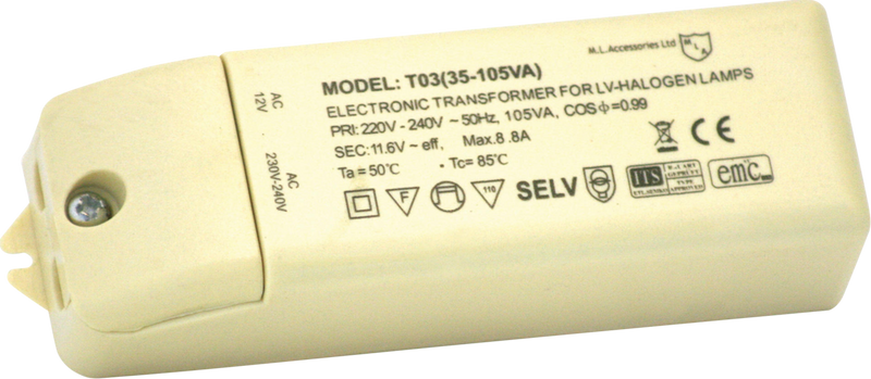 12V 35-105W Dimmable Transformer