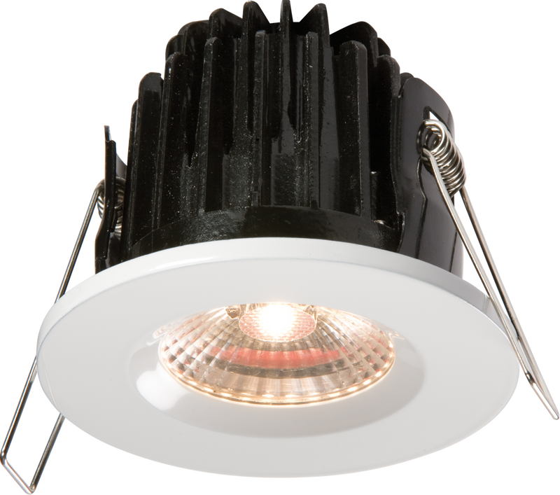 IP65 7W LED 3000K Warm White Downlight comes with White Round Bezel