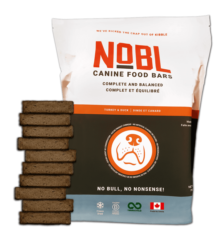 ADULT CANINE FOOD BARS: TURKEY & DUCK RECIPE: BULK PACK - NOBL Foods