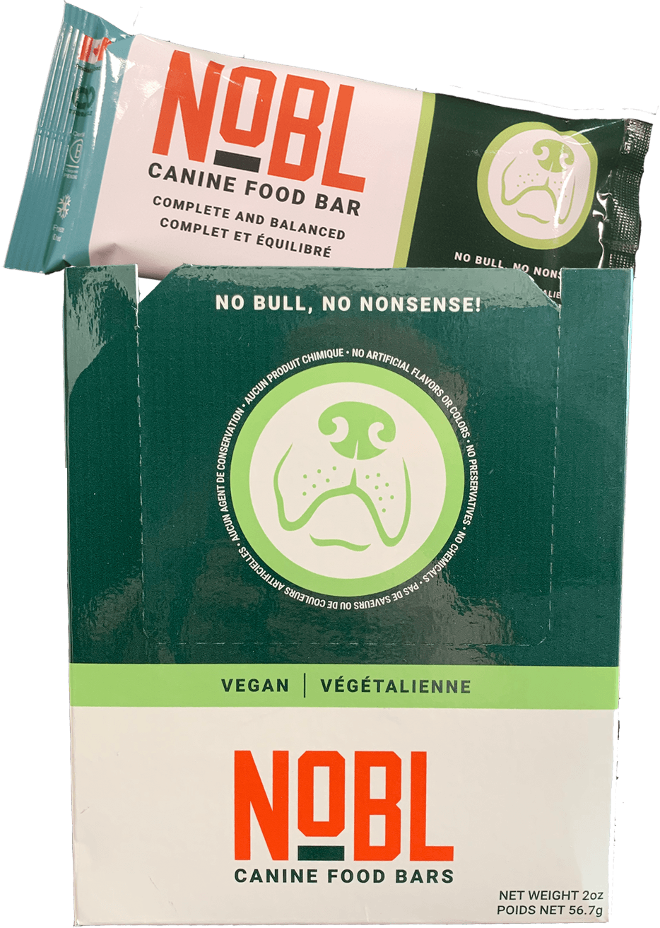 Adult Canine Food Bars: Vegan Recipe - CASE - NOBL Foods