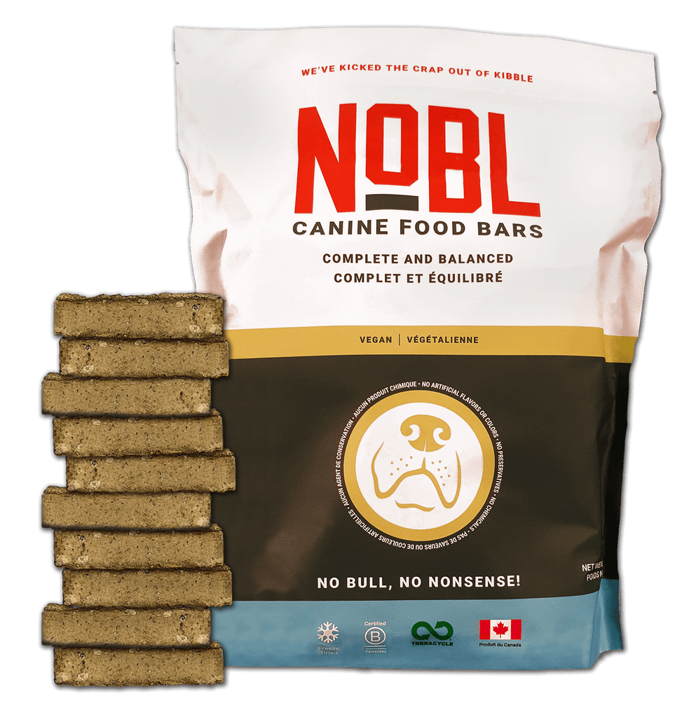 RETAIL ORDER - NOBL ADULT CANINE FOOD BARS VEGAN RECIPE - BULK 10 PACK - NOBL Foods