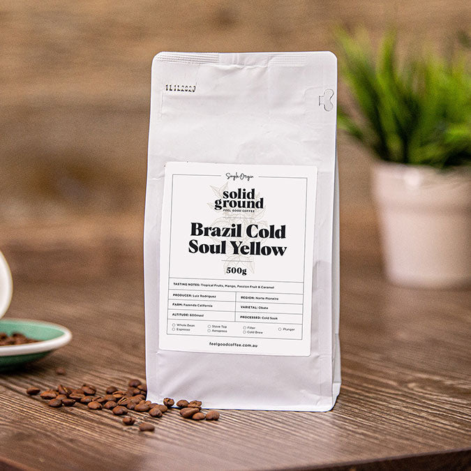 Load image into Gallery viewer, Brazil ColdSoul Yellow Single Origin Coffee Beans 500g Bag