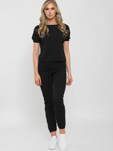 black loungewear ladies set
