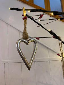 Silver Hanging Heart