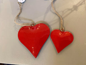 Red Metal Hearts