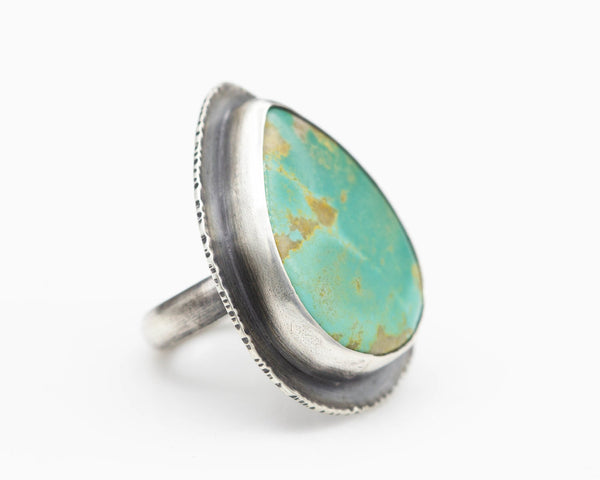 Turquoise & Sterling Ring, Size 5