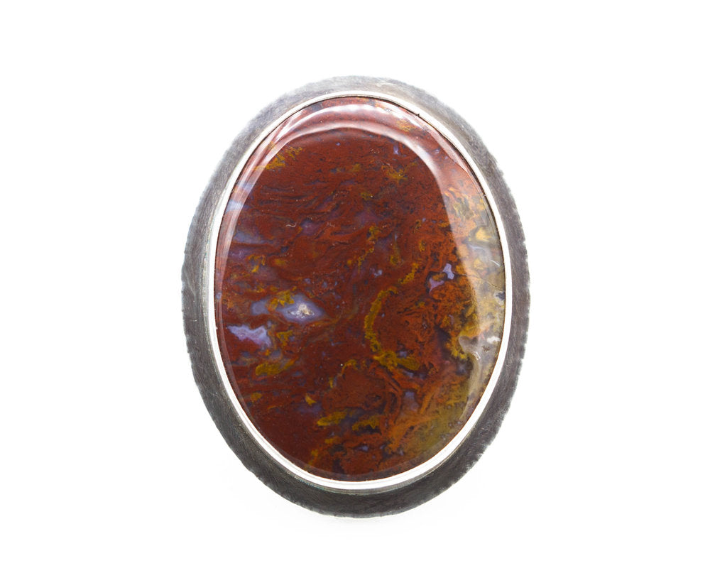 Bloody Basin Agate Ring Size 8.5