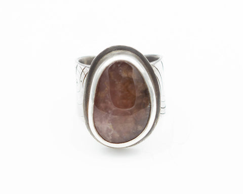 Rhodochrosite Ring Adjustable