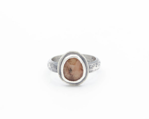 Oregon Sunstone Ring Sterling Size 6.5