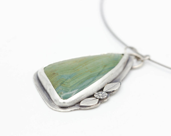 Ellipso Jasper Pendant Necklace