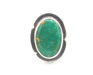Kingman Turquoise Ring Sterling Size 9