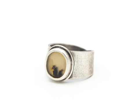 Dendritic Agate Ring Adjustable