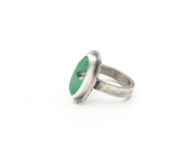 Chrysoprase Ring Size 6.5