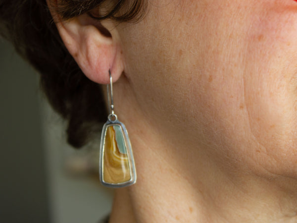 Polychrome Jasper Earrings