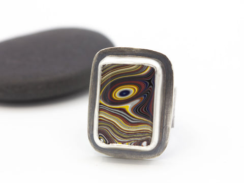 Fordite Ring Size 7