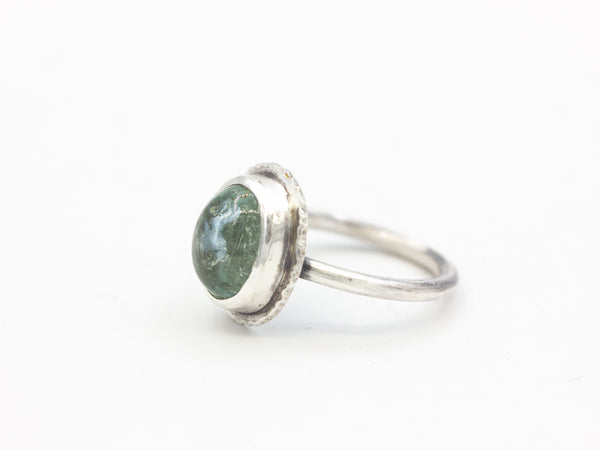 Moss Aquamarine Ring Size 6.5