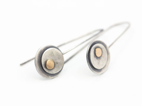 Sterling and 14k Gold Earrings