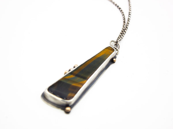 Tiger's Eye Pendant Necklace