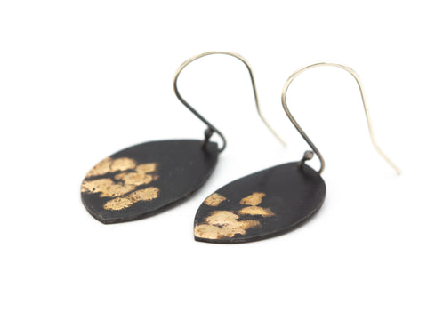 14k Gold & Steel Earrings