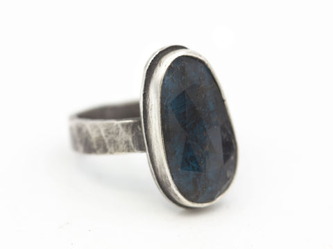 RESERVED for M - Moss Kyanite Ring, Size 7