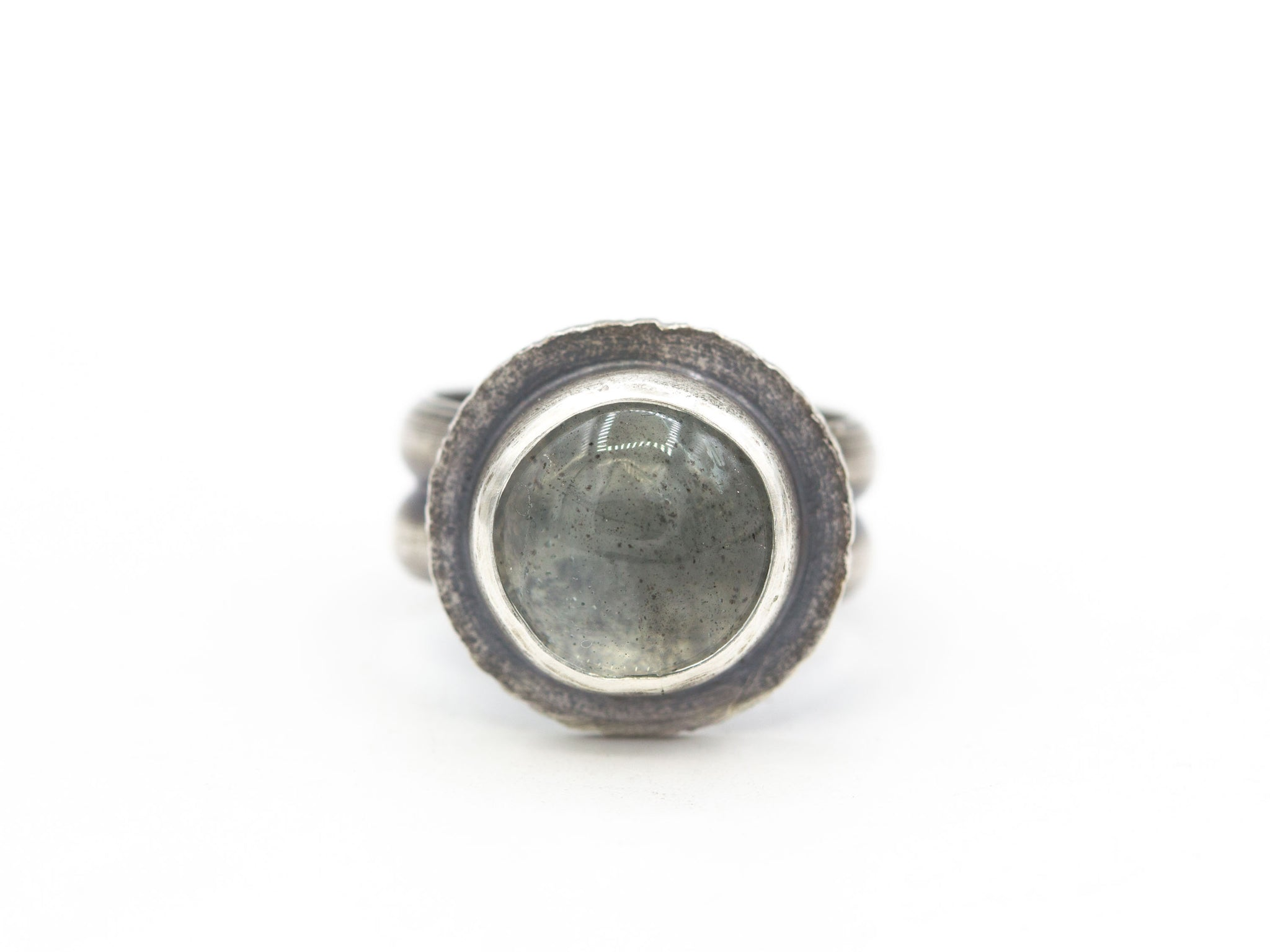 Moss Aquamarine Ring Size 8