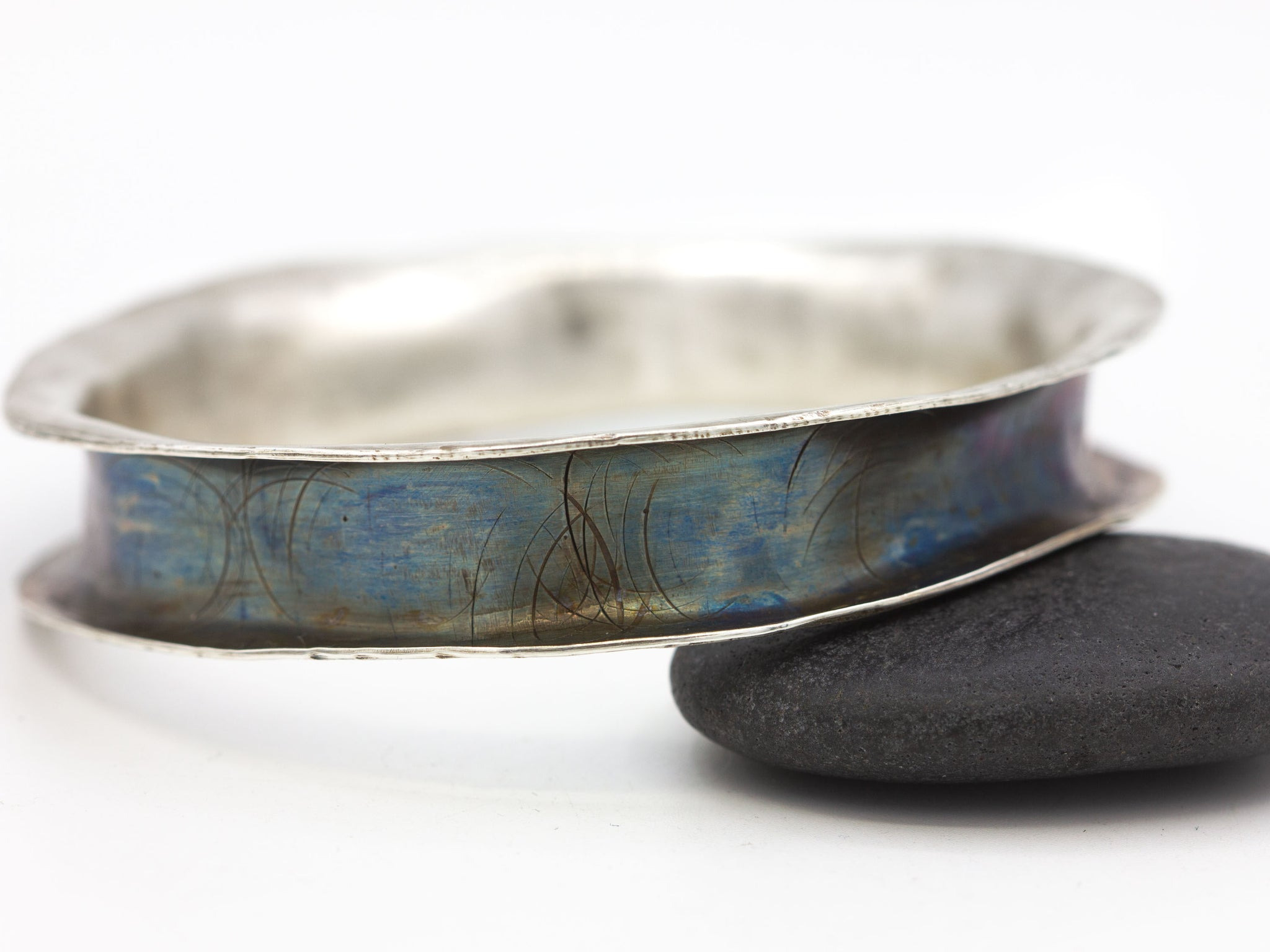 Sterling Silver Anticlastic Bangle