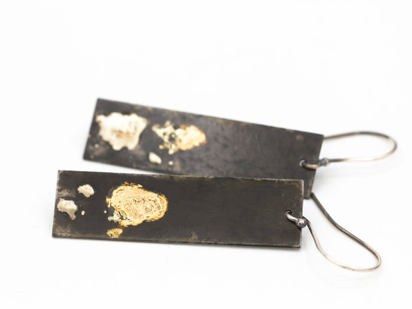 Steel 14k Gold and Sterling Earrings