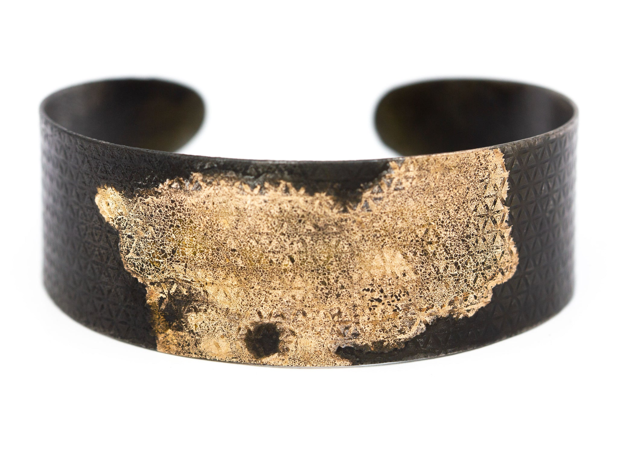 Gold and Black Steel Cuff