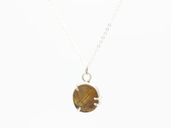 Gold Star Rutile Quartz Pendant
