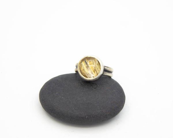 Rutilated Quartz Ring Size 6.5