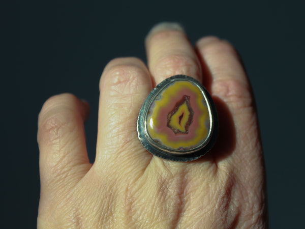 Turkish Banded Agate Ring Size 9