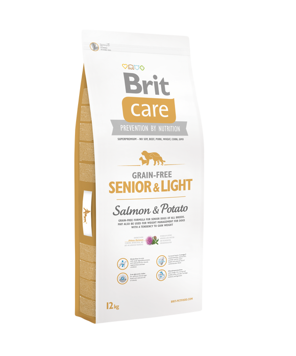 Brit Care SENIOR & LIGHT<br>LAZAC & BURGONYA<br><i>Gabonamentes</i>