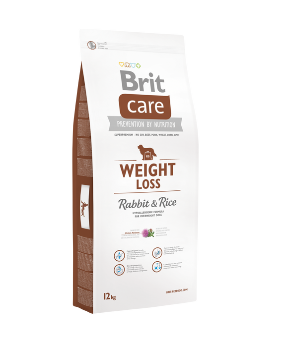 Brit Care WEIGHT LOSS<br>NYÚL & RIZS<br><i>Hipoallergén</i>
