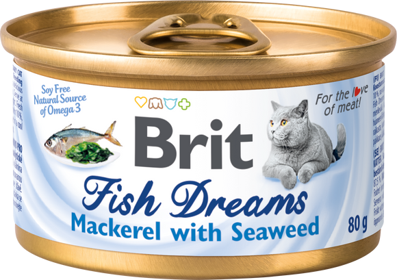 Brit Care macskakonzerv<br>FISH DREAMS<br>MAKRÉLA