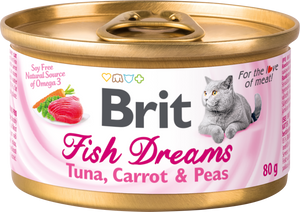 Brit Care macskakonzerv<br>FISH DREAMS<br>TONHAL & RÉPA & BORSÓ