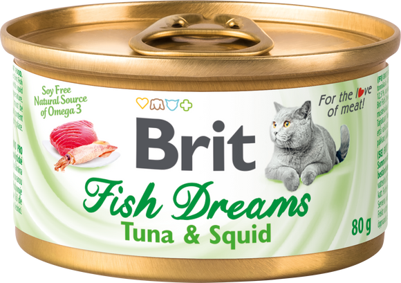 Brit Care macskakonzerv<br>FISH DREAMS<br>TONHAL & TINTAHAL