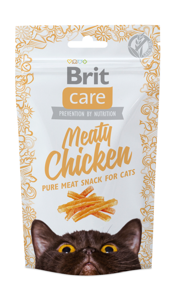 Brit Care Cat Snack Meaty<br>CSIRKE